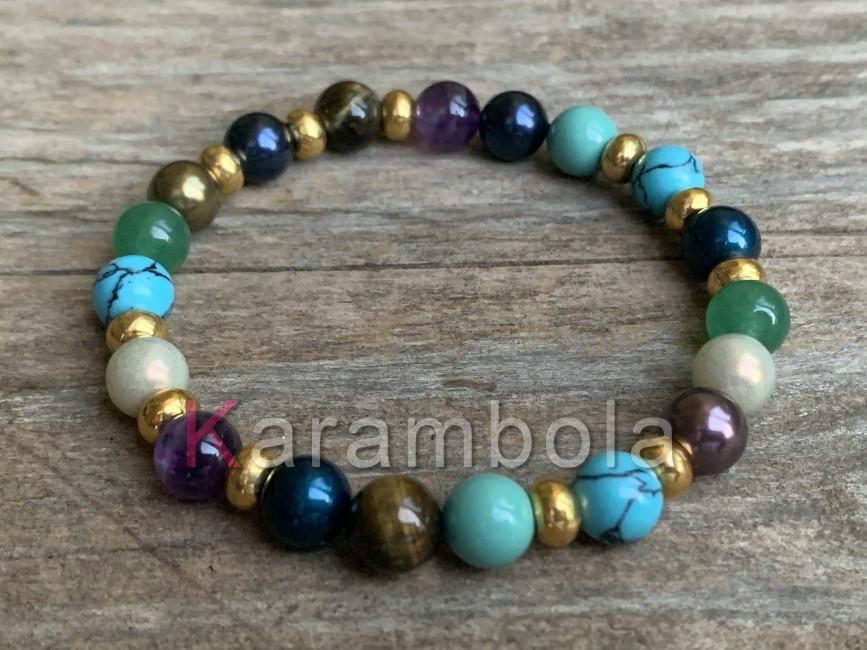Natural Stone handmade Jewelry womens bracelet colorful